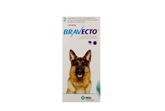 Bravecto för stora hundar (>20-40 kg) Tuggtablett 1000 mg 2 tablett(er)