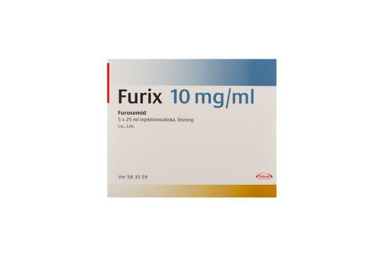 Furix Injektionsvätska, lösning 10 mg/ml Furosemid 5 x 25 milliliter