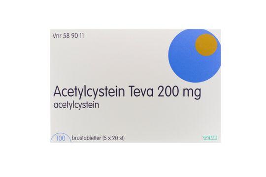 Acetylcystein Teva Brustablett 200 mg Acetylcystein 5 x 20 styck