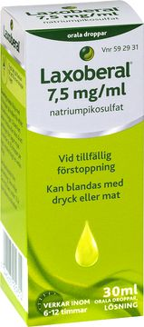 Laxoberal 7,5 mg/ml Natriumpikosulfat, orala droppar, 30 ml