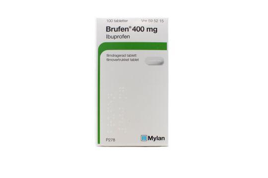 Brufen Filmdragerad tablett 400 mg Ibuprofen 100 styck