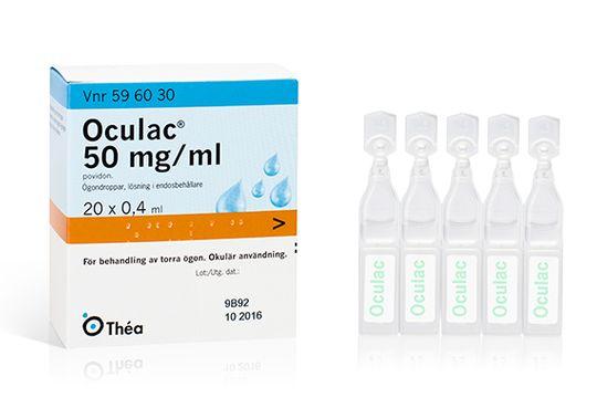 Oculac 50 mg/ml Povidon, ögondroppar, lösning i endosbehållare, 20x0,4 ml