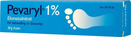 Pevaryl 1% Ekonazolnitrat, kräm, 30 g