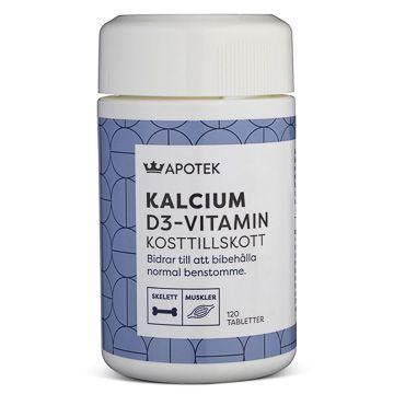 Kronans Apotek Kalcium D3-Vitamin Tablett, 120 st