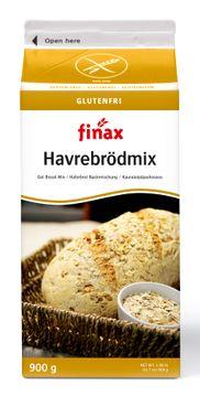 Finax brödmix, Glutenfri Havrebrödmix 900 gram