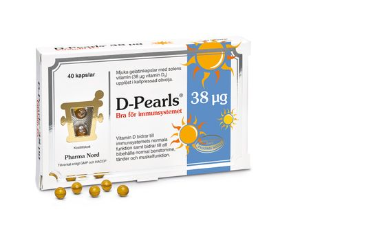 Pharma Nord D-Pearls 38 mcg 40 kapslar