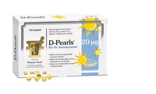 Pharma Nord D-Pearls 20 mcg 120 kapslar