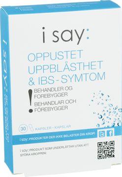 I Say: Uppblåsthet & IBS-symptom Kapsel, 30 st