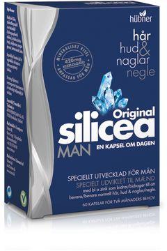 Original Silicea Man Hår, hud & naglar Kapsel, 60 st