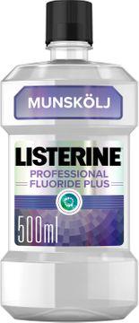 Listerine Professional Fluoride Plus Munskölj, 500 ml