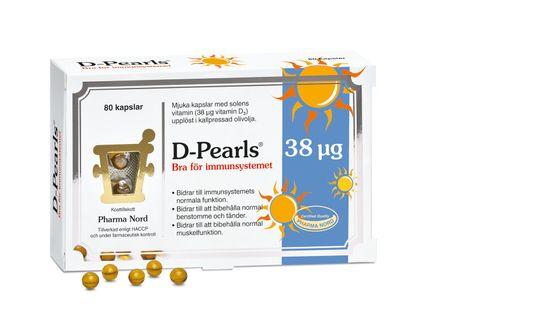 Pharma Nord D-Pearls 38 µg 80 kapslar