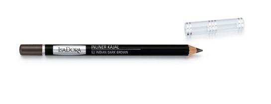 Isadora Inliner Kajal 52 Dark Brown Kajal, 1,2 g