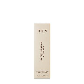 IDUN Minerals Matte Lipstick Körsbär Läppstift, 4 g