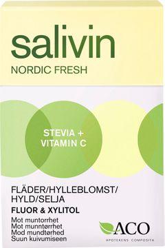 Salivin Nordic Fresh Fläder Sugtablett, 50 g