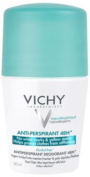 Vichy Anti-trace Deodorant Roll-on Deodorant, 50 ml