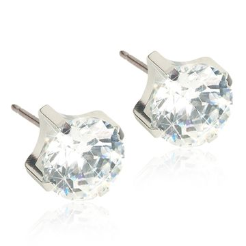 Blomdahl ST Tiffany 7mm CZ White par