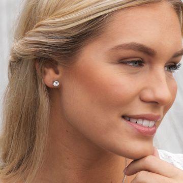 Blomdahl ST Tiffany 7mm CZ White par