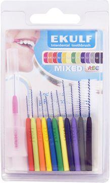 EKULF pH Professional Mixed Mellanrumstandborstar. 9 st