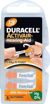 Duracell Batteri Activair 13 Hörapparatsbatteri, 6 st