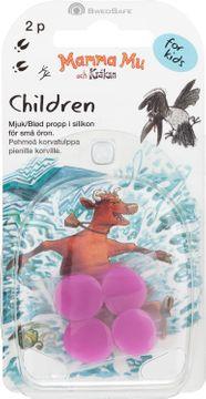 SwedSafe Barnproppar i silikon Öronproppar för barn, 2 par