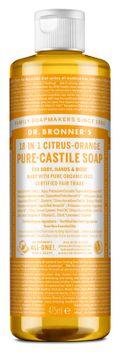 Dr. Bronner's Liquid Soap Citrus & Orange Duschtvål, 475 ml