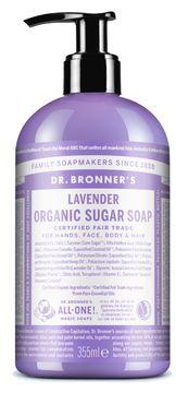 Dr. Bronner's Sugar Soap Lavender Organic Duschtvål, 355 ml