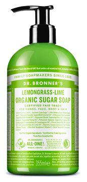 Dr. Bronner's Sugar Soap Lemongrass & Lime Organic Duschtvål, 355 ml