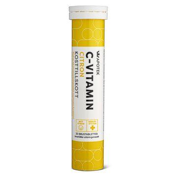 Kronans Apotek C-Vitamin Citron Brustablett, 20 st