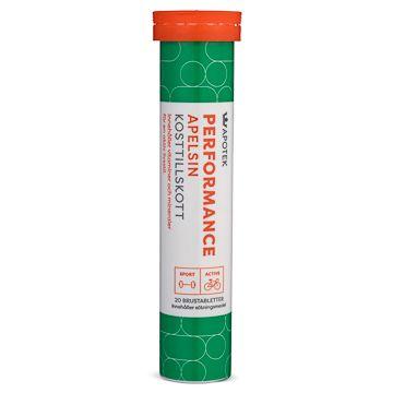 Kronans Apotek B-Vitamin Performance Apelsin Brustablett, 20 st
