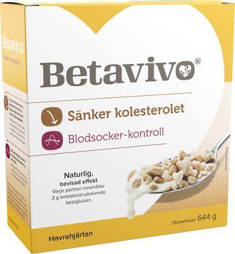 Betavivo krispiga havrehjärtan Kolesteroldämpande betaglukan. 644 g