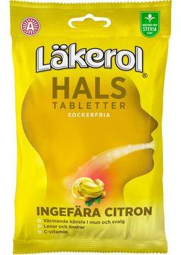 Läkerol Hals Hals Ingefära Citron 65 gram