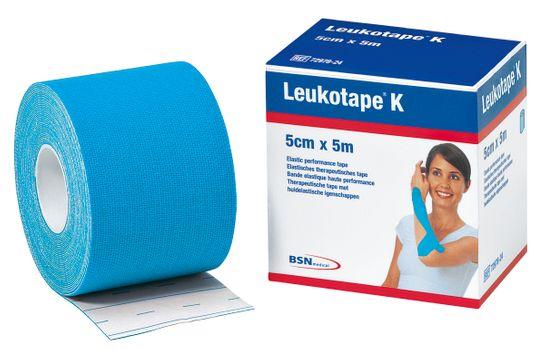 Leukotape K Kinesiotejp blå. 5 cm x 5 m. 1 st