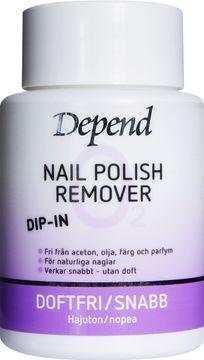 Depend O2 Dip-In Remover lila Nagellacksborttagning, 75 ml