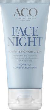 ACO Face Moisturising Night Cream Nattkräm, 50 ml