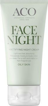 ACO Face Night Mattifying Night Cream Nattkräm, 50 ml