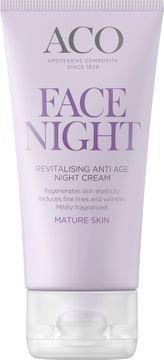 ACO Face Anti Age Revitalising Night Cream Nattkräm, 50 ml