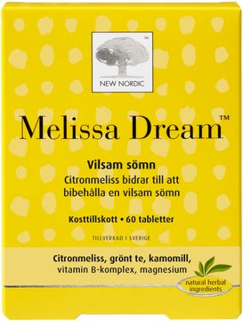 New Nordic Kosttillskott Melissa Dream 60 st