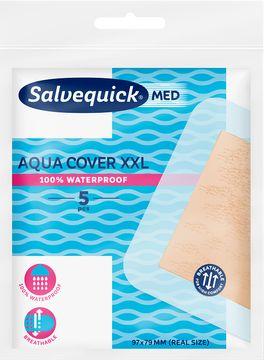 Salvequick MED Aqua Cover XXL Plåster, 5 st