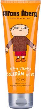 Alfons Åberg Alfons Viktiga Solkräm SPF 50 Solskydd för barn. 125 ml