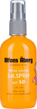 Alfons Åberg Millas Viktiga Solspray SPF 30 Solskydd för barn. 150 ml