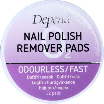 Depend Remover Pads O2 Nagellacksborttagning pads, 32 styck