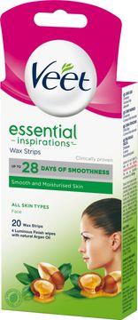 Veet Essentials Wax Strips Ansikte 20 st