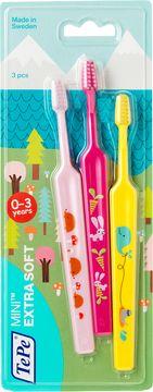TePe Mini Tandborste Extra Mjuk Barntandborste, 3 st