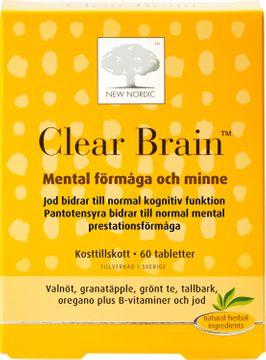 New Nordic Kosttillskott Clear Brain 60 st