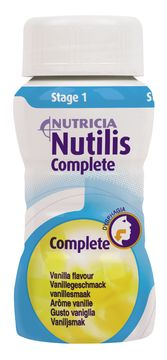 Nutilis Complete stage 1 komplett kosttillägg, vanilj 4 x 125 milliliter