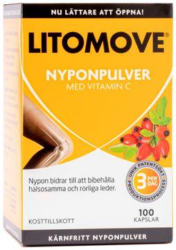 Litomove Nyponpulver kapslar Kapsel, 100 st