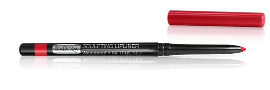 Isadora Sculpting Lip Liner Waterproof 64 True Red, Läppenna