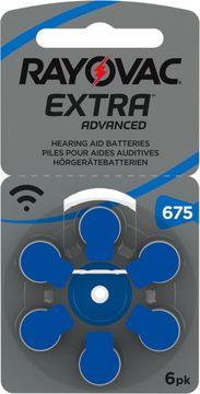 Rayovac Extra Advanced 675 Blå Hörapparatsbatterier, 6 st