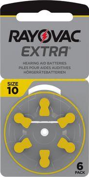 Rayovac Extra advanced Hörapparatsbatterier 10 gul 6 st