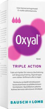 Oxyal Triple Action ögondroppar Ögondroppar, 10 ml